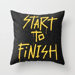 Start To Finish Throw Pillow