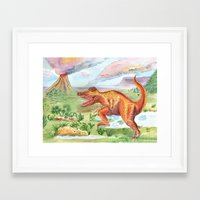 t rex Framed Art Prints featuring T-Rex by Catherine Holcombe
