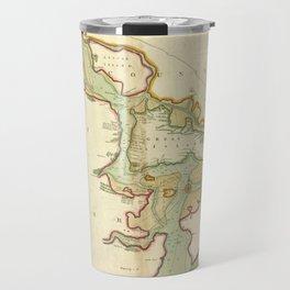 Vintage Map of Cork Harbor Ireland (1702) Travel Mug