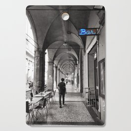 Black and white Bologna Street Photography Cutting Board