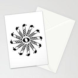 Music note mandala 3 Stationery Cards