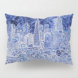 san francisco city skyline Pillow Sham