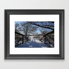 Winter Bridge Framed Art Print