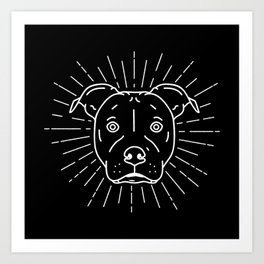 Radiant Dog Print – black and white Art Print