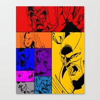 x men Canvas Prints featuring X-Men by Carrillo Art Studio