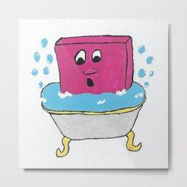 Bubble Tub Metal Print