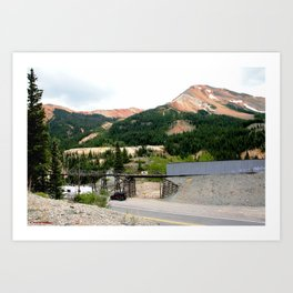 1880's Gold Rush - The Idarado Mine and Red Mountains Art Print