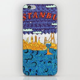 'İstanbul' colored with markers iPhone Skin