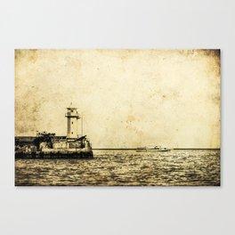 Old Lighthouse (vintage) Canvas Print