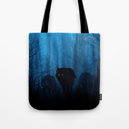 Wolf Pass: Cerulean Mist Tote Bag