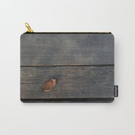 Dry leaf on a piece of wood Carry-All Pouch
