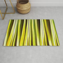 Yellow Ochre and Brown Stripy Lines Pattern Rug