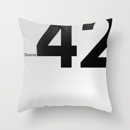 Choose 42 for your Towel Day Throw Pillow