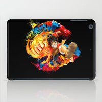 luffy iPad Cases featuring Luffy Attack by feimyconcepts05