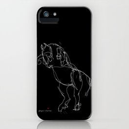 Horse (Prancing in Black) iPhone Case