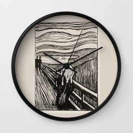 The most famous scream in the world of art Wall Clock