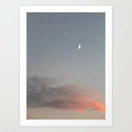Irish Skies - Half moon Art Print