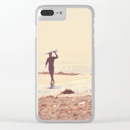 Surfer photograph. A Visceral Need Clear iPhone Case