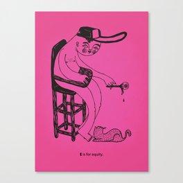 E / disable alphabet Canvas Print
