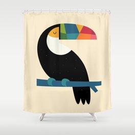 Rainbow Toucan Shower Curtain