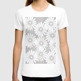 Summer Flowers Grey T-shirt