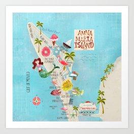 Anna Maria Island Map Kunstdrucke