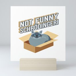 Schrödinger Cat Physics Math Teacher Student Gift Mini Art Print