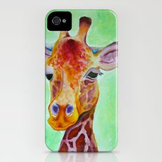 Colorful Giraffe Slim Case iPhone (4, 4s)