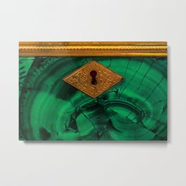 Malachite Box 4 Metal Print