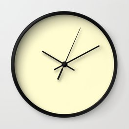 Pastel Lemon Yellow Pale Soft Meringue Yellow Wall Clock