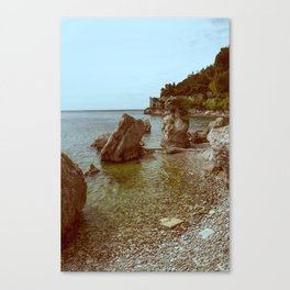 A coastline and a castle Canvas Print