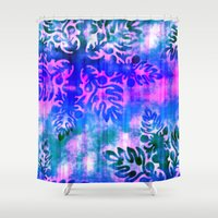 hawaiian Shower Curtains featuring Hawaiian Holiday by Vikki Salmela