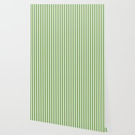 CVS0076 Avocado Green and White Stripes Pattern Wallpaper