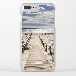 """Cabo de Gata"". Retro serie Clear iPhone Case"