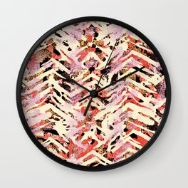chalky skin in warm tone Wall Clock