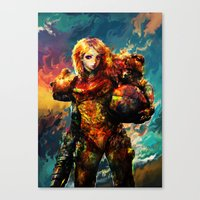 samus Canvas Prints featuring Samus  by ururuty