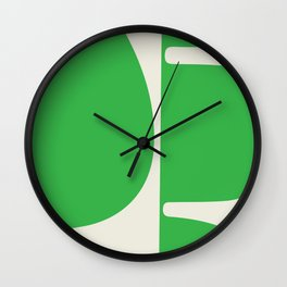 "'Betty"" Bold Abstract Modern in Green Wall Clock"