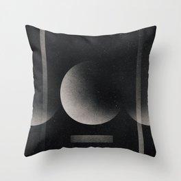 Pendular moon Throw Pillow