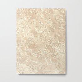 Butterscotch Silk Moire Pattern Metal Print