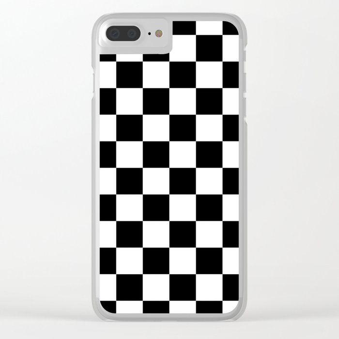 new style 395a3 3fd3d Checkered (Black & White Pattern) Clear iPhone Case by luxelab