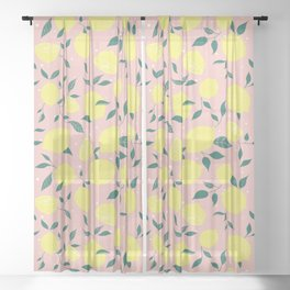 Squeeze a Lemon Sheer Curtain