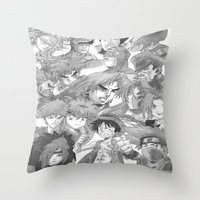 anime Throw Pillows featuring Anime by Hitmakerzpro