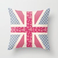 england Throw Pillows featuring England Love by herejustbc;