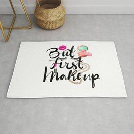 Make up lover calligraphy logo Rug