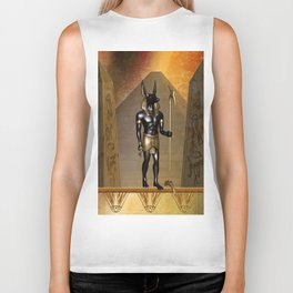 Anubis the egyptian god Biker Tank