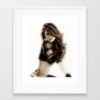 selena gomez Framed Art Prints featuring Selena-Q by Isaiah K. Stephens