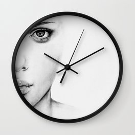 Barely Scarlett  Wall Clock