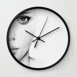 Barely Scarlett  Wall Clock
