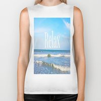 relax Biker Tanks featuring Relax by JuniqueStudio