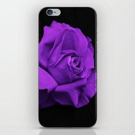 Rose violette purple iPhone Skin